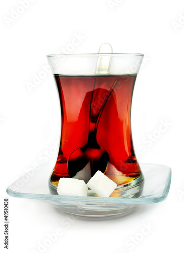 Turkish tea in traditional glass.