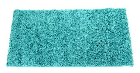 Blue carpet isolated on white