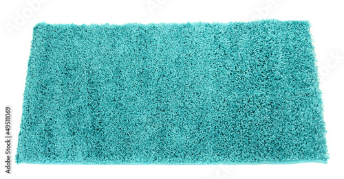 Blue carpet isolated on white