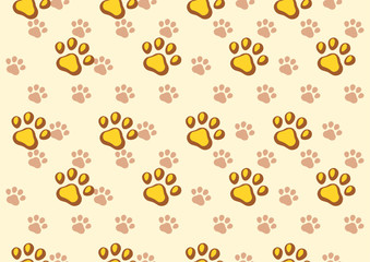dog paws seamless background