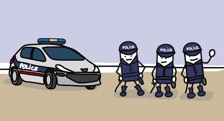 3 policiers