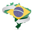 flag map of Brazil changing ideas concept