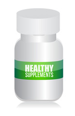 healthy medical supplement pills jar