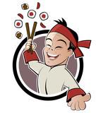 Fototapete Restaurant - Cartoons - Beim Essen