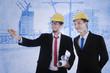 Architect explains blueprint plan