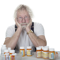 Senior with lots of prescriptions