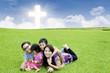 Celebrating Easter together in park