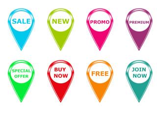 Set de iconos para Web en varios colores