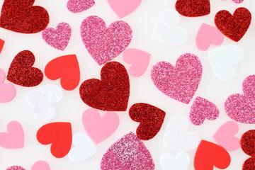 ピンクと赤と白のハート