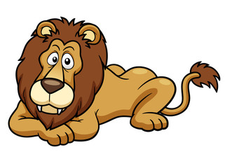 illustration of Cartoon lion