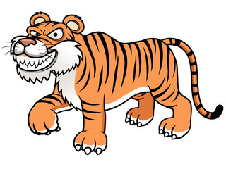 illustration of Cartoon tiger