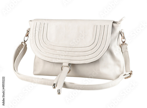 A luxury white leather lady handbag