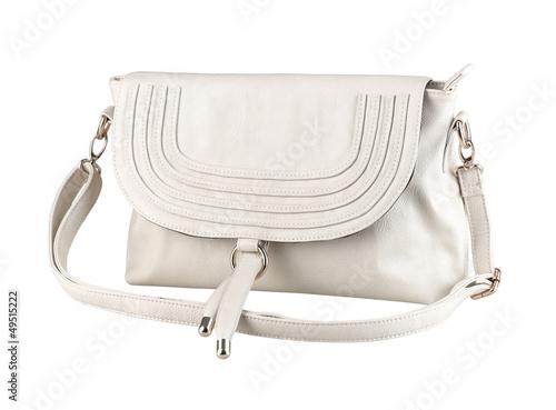 A luxury white leather lady handbag