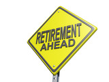 Retirement Ahead Yield Sign White BG