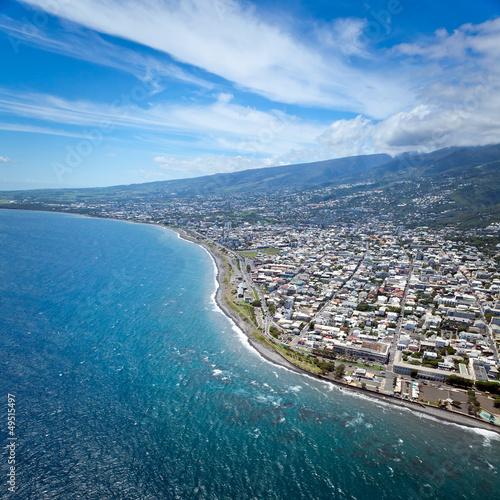 Vue aérienne de Saint-Denis - Ile de La Réunion
