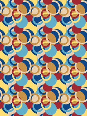 abstract seamless pattern with circles and rings