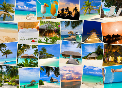 Summer beach maldives images