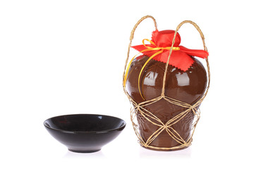 rice wine jar and ceramic bowl
