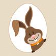 Easter Bunny Eggframe Dots Beige