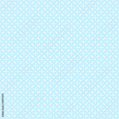 Seamless Pattern Dots Retro Blue - 49517073