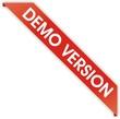 étiquette bordure demo version