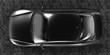 luxury sport sedan car top view 3d rendering