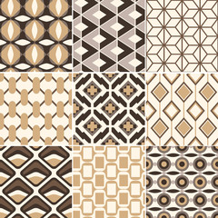seamless gold geometric retro pattern