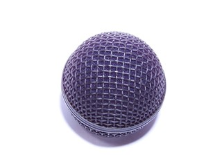 Isolated  Microphone of industry standard.