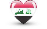 Heart-shaped icon with national flag of Iraq