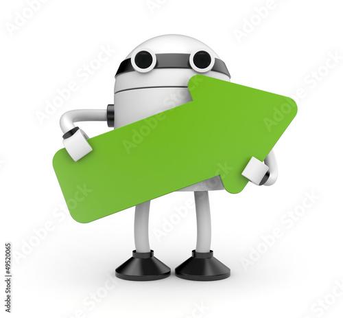 Robot with arrow
