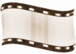 Old blank film strip isolated on white