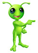 Cute Cartoon Alien Pointing