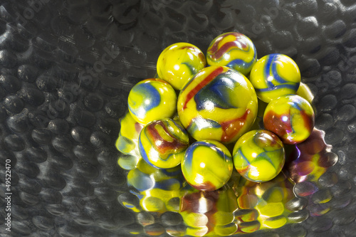Colorful Marbles Bowl