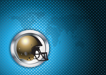 american football blue chrome background