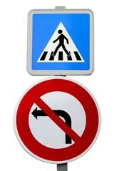 Passage protégé et interdiction de tourner à gauche