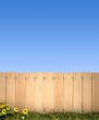 Fence and blue sky