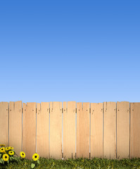 Fence and blue sky