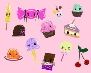 Kawaii sweets set