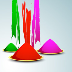 Indian colorful festival Holi celebration background with colors