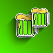 Saint Patrick's Day background or greeting card with beer mugs o