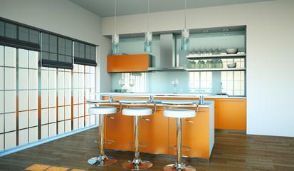 Küche orange