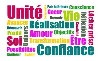 Nuage de mots couleurs coaching