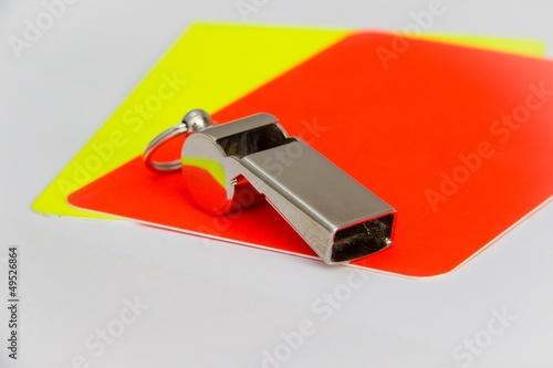 Poster gelbe und rote Karte