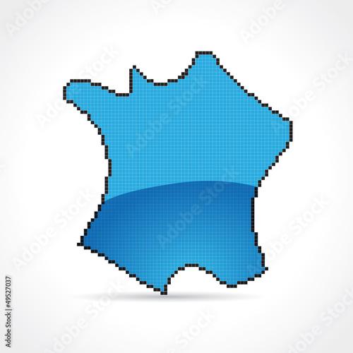 France bleue-pixel art