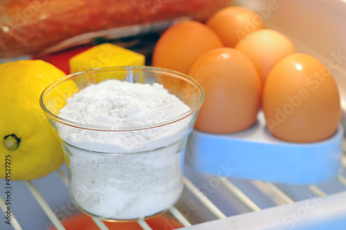 bicarbonate inside of fridge