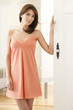 Attractive Woman Wearing A Peach Nightgown
