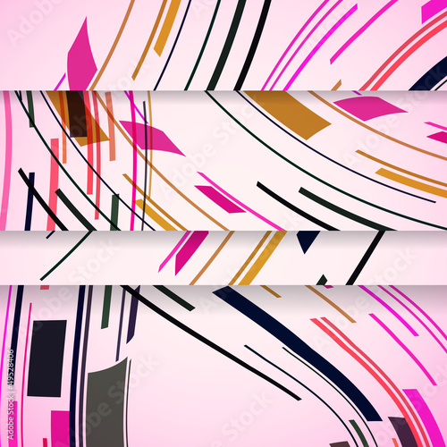 Fototapeta na wymiar Abstract banner for your design, colorful digital Illustration.