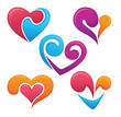 vector collection of love symbols, hearts, signs and forms
