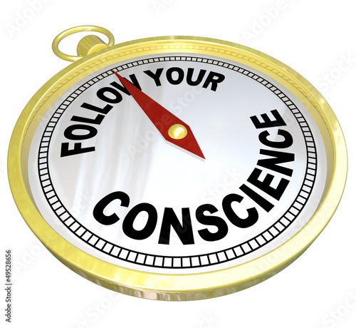 Follow Your Conscience Compass Right vs Wrong