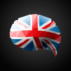 British speech bubble background, vector Eps10 illustration.